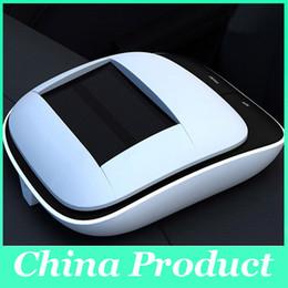 Wholesale Home Air Purifier Hepa - Universal Solar Car Air Purifier freshener HEPA Carbon Filter Ionizer Disinfector Sterilizer Deodorizer UV Light for Auto Home 010275