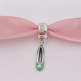 Wholesale Shoes Charm Bracelets Wholesale - Authentic 925 Sterling Silver Beads Disny Tinker Bell'S Shoe Charms Fits European Pandora Style Jewelry Bracelets & Necklace 792139EN93