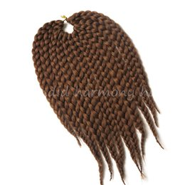 Wholesale Wholesale Hair Extensions Boxes - Blonde color 12inch 80g box crochet braid Synthetic havanna mambo crochet braids hair extensions