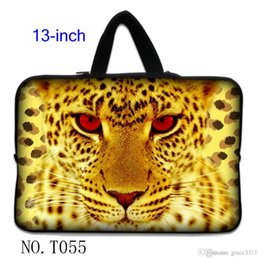 "Wholesale Leopard Laptop Sleeve - Golden Leopard Netbook Laptop Sleeve Case Bag Pouch Cover For 13"" inch 13.3"" Macbook Pro   Air"