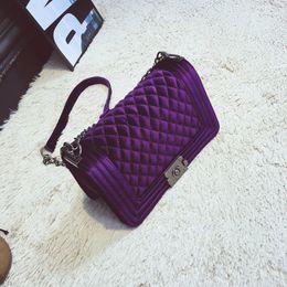 Wholesale Velvet Purse Black Party - Wholesale- Taliyah Crossbody bag Fashion Women Bag Luxury Handbags Women Purses Designer Brand Ladies Chain Velvet Shoulder Messenger Bags