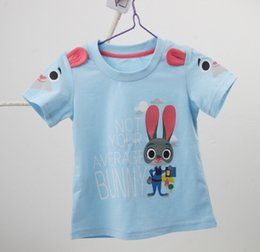 Wholesale Teenager Clothes Wholesale - Baby girl clothes Zootopia brand boys clothes kids t shirts summer fashion 2016 Judy Hopps girls clothes teenagers t-shirt