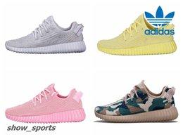 Wholesale Custom Shoe Boxes - Adidas Yeezy Boost 350 Triple White Yellow Pink Green Camo Customs Mens Running Shoes Women Kanye West Yeezy 350 Yeezys Original Box