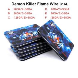 atomizzatore assassino Sconti Demone Killer Fiamma Wire 10Feet Prebuilt Coil SS 316L DIY Roll Riscaldamento 10 Piedi Fili Per Atomizzatori Vape with Box