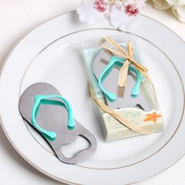Wholesale Wedding Favors Slippers - Free Shipping 100pcs lot Metal Slipper Shoe shape beer bottle opener for wedding invitations favors and Kitchen Cooking Tool Party Gifts