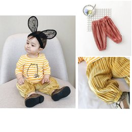 Wholesale Korean Wholesale Childrens Clothing - Korean Baby Boys Girl Harem Pants Wide Leg Pant For Sport Casual Ruffled Soft Loose Childrens Clothing