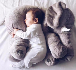 Wholesale Helping Animals - 2016 wholesale big elephant Pillow Stuffed Animals toy plush toy soft material help baby sleep kids toy
