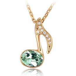 Wholesale Crystal Chain For Jewelry Making - Korean Fashion Accessories For Women Crystal Pendant Necklace Jewelry Made with Swarovski Elements Necklaces Rose Gold Plated 2722