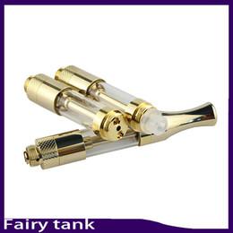 Tanques t2 online-Aceite de cera de calidad superior atomizador tanque de hadas Bobina de cerámica de oro cartucho sin cartucho 510 de vidrio VS g2 92a3 TH205 T2 Atomizador Liberty