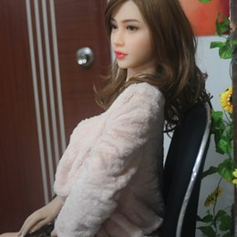 Wholesale Sexy Big Size Breast - New 165cm full life size silicone sex doll toy for man metal skeleton adult sexy product F cup big breast Asian oral