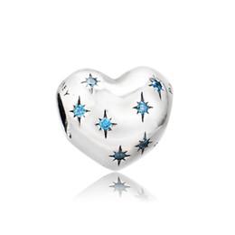 Аутентичные 925 серебряные бусины Дини, мечта очарование Золушки, необычные светло-голубой CZ подходит европейский стиль Пандора ювелирные изделия браслеты ожерелье от