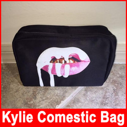 Wholesale Makes Cosmetics - in stock Kylie Jenner bags Cosmetics Birthday Bundle Bronze Kyliner Copper Creme Shadow Lip Kit Make up Storage Bag