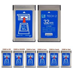 Wholesale Tech2 Cards - DHLHottest 32MB CARD FOR GM TECH2 for Opel  ForGM  SAAB ISUZU Suzuki Holden original gm tech2 32mb card ,32 MB Memory GM Tech 2 Cardi