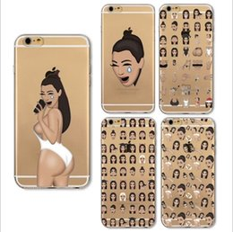 Wholesale Custom Paint Design - Phone Case for iphone X iPhone 8 7 6 6s plus 5s 5E Case Custom Design Soft TPU Protective Back Cover painting emoji Expression Case GSZ002