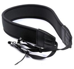 Wholesale Wholesale Camera Straps - Neoprene Camera Neck Strap For Nikon for Canon for Sony all SLR DSLR Black 50 Pcs