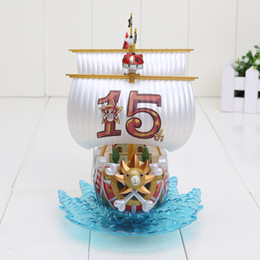 Wholesale One Piece Sunny Pirate - 18cm Anime One piece Thousand Sunny Mini Pirate Ship Collettion Model PVC Figure Toy Doll kids gift
