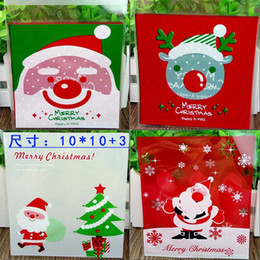 Wholesale Bags For Recycling - Halloween Christmas Theme Cookie Packaging Colorful Bottles Self Adhesive Plastic Bags For Biscuits Snack Baking Bag Hot Sale 3yj J R