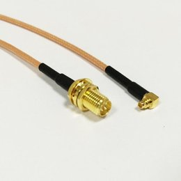 "Wholesale Sma Angle - RF RP SMA Female Switch MMCX Male Right Angle Pigtail Cable RG316 15CM 6"" Wholesale Fast Ship H210811"
