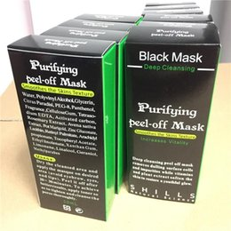 Wholesale Eye Face Mask - ( In Stock ) - Black Suction Mask Anti-Aging 50ml SHILLS Deep Cleansing purifying peel off Black face mask Remove blackhead Peel Masks tarte