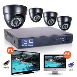 "Wholesale D1 Network Dvr - 1 4"" CMOS 8CH Full D1 H.264 Surveillance HDMI DVR 700TVL 24IR-Led 3.6mm Len Indoor network Security CCTV Camera System day&night monitoring"