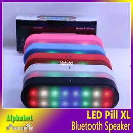 Wholesale Hifi Audio Amplifier - LED Pills 2 XL Speakers Pulse Light Flash Bluetooth Speaker Stereo Hifi Amplifier Wireless HandsFree Support TF Card U-Disk MIC FM DHL