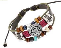 Wholesale Hand Made Bracelets For Men - classic men women hand made Retro rope leather bracelets wholesale hand woven bracelet for men rope braided bracelet male bracelet Jewelry