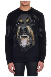 Wholesale Woman Rottweilers - 2016 Autumn winter dog printed hoodie famous rottweiler dog men and women casual sweatshirts long sleeve hoodie sports hoody mens pullover