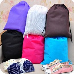 Wholesale Travel Shoe Bags Wholesale - Non woven Non woven storage bag shoe lothes dust proof Drawstring Travel Wash Pouch Storage Bag KKA3438