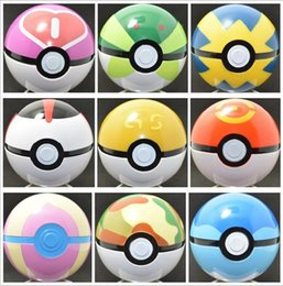 Wholesale Top Toy Figures - 1500Pcs Top Quality Poke Ball Anime Toys Cartoon Pocket Monsters ABS Action Figures pikachu Ball Cosplay Pop-up 13 colors