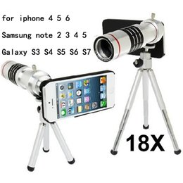 Wholesale Mobile Telephoto - Wholesale-mobile phone 18x Zoom optical Telescope telephoto Lens For iphone 5 5c 6 6S plus Samsung note 2 3 4 5 Galaxy S3 S4 S5 S6 S7 edge