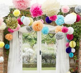 Wholesale Ball Bouquet - 13 colors 30cm  12 inch Wedding Decorations Silk Kissing Pomander rose Flowers Balls Wedding bouquet Free Shipping BSH116