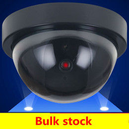 Wholesale Ir Camera Outdoor - Dome Dummy IR Camera Home Security Fake Simulated video Surveillance indoor Outdoor Dummy Led Dome Camera Signal Generator Electrical SF66