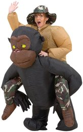 Wholesale fun halloween costumes - Inflatable chimpanzee mascot costume for Halloween fun Halloween costumes