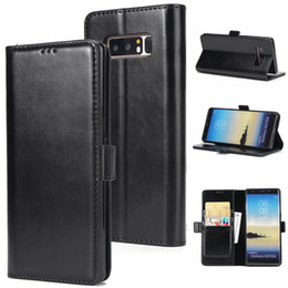 Wholesale Galaxy Note Stand Case - Version Phone Case for Samsung Galaxy Note 8 4 5 S8 Plus S5 S6 S7 Edge Crazy Horse Leather Skin Wallet Card Stand Tpu Cover Case