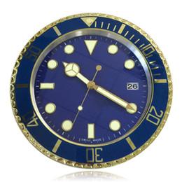 Decoración del hogar Reloj de pared digital de la vendimia Diseño moderno Reloj de pared de metal verde lleno de oro horloge murale desde fabricantes