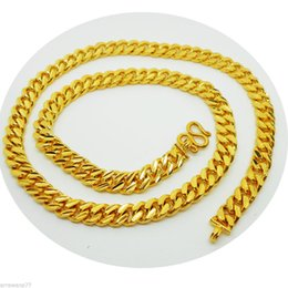 Wholesale American Gps - Hot Men's Deluxe 14K YELLOW GOLD Plated GP NECKLACE Jewellery 24 inch