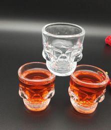 Wholesale Tv Shaped Gifts - High Quality 2 oz Crystal Skull Shape wine glass shot glass mini skull glass