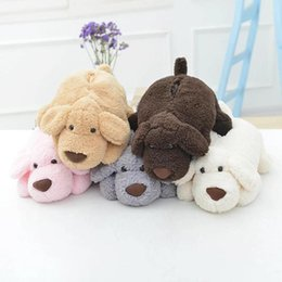 Wholesale Teddy Home - Wholesale- 1pc Super Lovely Cartoon Dog Plush Tissue Box Stuffed Soft Teddy Dog Puppy Home table Car Napkin Box L35