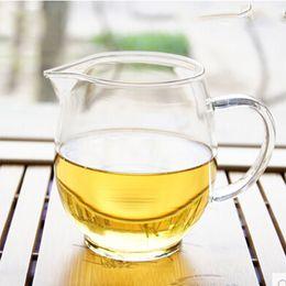 Wholesale Glass Tea Sets Wholesale - Free shipping thickened glass Longdan serving cup transparent gongfu tea sea tea office tea sets serving pitcher