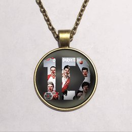 Wholesale Fashion Id Necklaces - One Direction ID Fashion Statement Necklace For Women & Men Pendant Necklaces 2015 Casual Gift Link Chain Glass Cabochon Jewelry