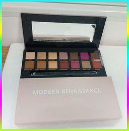Wholesale Eyeshadow Palette Style - The Newest Modern Renaissance Palette 14 color Flannelette eyeshadow palette kit & 14 Colors PALETTE 2 style eyeshadow