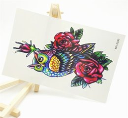 Wholesale Tattoo Stickers Body For Girl - Wholesale- 19X12CM Sexy Body Art Beauty Makeup Large Waterproof Temporary Arm Tattoos 3d Henna Tattoo sticker For Girls And Man MX-2030