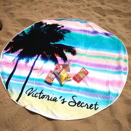 Wholesale Children Picnic Blanket - Free Shipping New Fashion 160cm 100% Cotton Large Round Beach Towel for 2 people Reactive Printed Serviette de Plage Picnic Mat Blanket