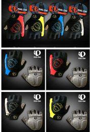 Wholesale men half gloves - Super Unisex Cycling Gloves Men Sports Half Finger Anti Slip Gel Pad Motorcycle MTB Road Bike Gloves S-XL Bicycle Gloves Yellow