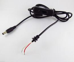 Cable de alimentación macho dual online-4FT 1.2M 5.5 x 2.1mm Conector de cable macho de corriente continua con interruptor 10pcs
