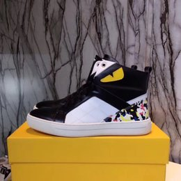 Wholesale Cheap Eye Lace - 2017 16Male casual running shoes name brand cheap men sneakers yellow eyes with back rivets shoe Hombre 38-44
