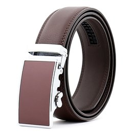 Wholesale Yellow Fabric Belt - Men's leather belt factory direct automatic buckle couples cattle leather belt belt wholesale