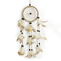 Wholesale ceramic gifts crafts - Wholesale- Indian Style Handmade Dream Catcher Net With Feathers Hanging Decoration Craft Gift for Home Decoration Ornament Craft Gift