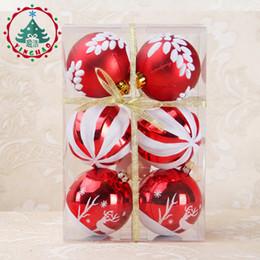 110d69d4369 dibujo árboles de navidad Rebajas 6 unids Árbol de Navidad Bolas Colgantes  Diámetro 8 cm Pulido