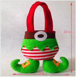 Wholesale Wholesale Sell Christmas Elves - In Stock Elf Bags Christmas Candy Gift Bag Xmas wedding Party Supplies Top Selling Christmas Decorations